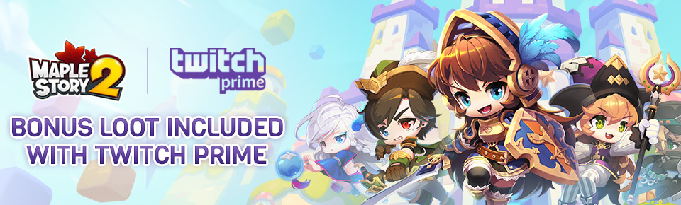 Bonus Loot with Twitch Prime | Official MapleStory 2 Website