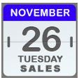 Black Friday Sales for Nov 26