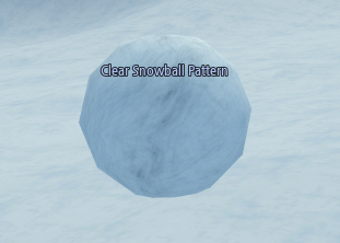 Mabinogi Clear Snowball Pattern, Winter Painter Event
