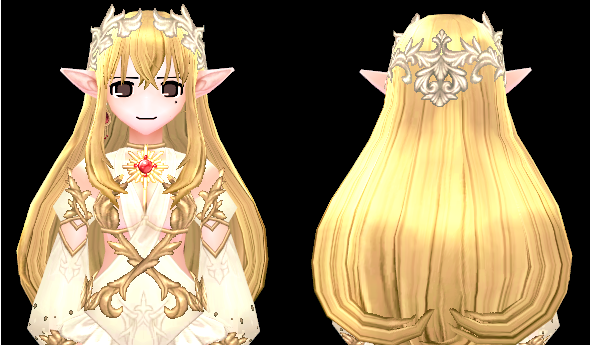 Mabinogi Solaris Wig and Hairpiece (F)