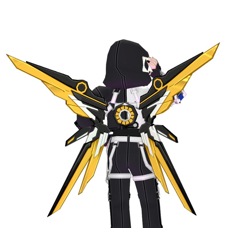 Mabinogi Dawn Tech Chic Assault Wings (Enchantable)