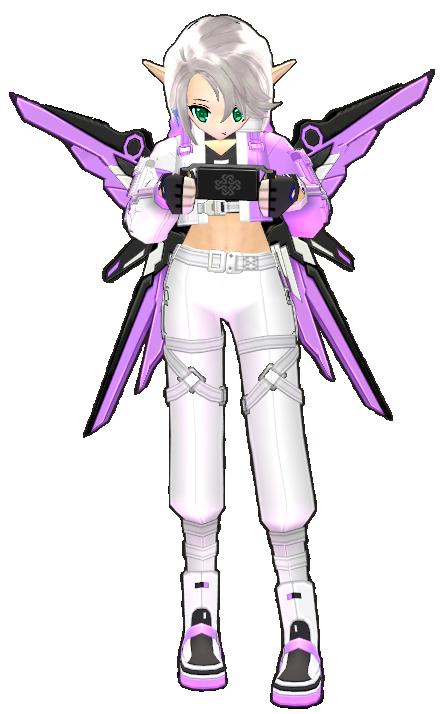 Mabinogi Pink-Dyed Solaris Dress and Solaris High Heels Female