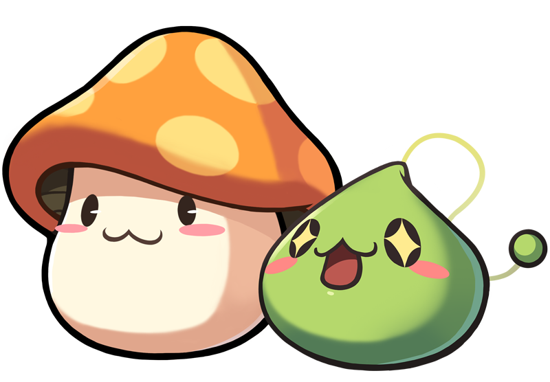 MapleStory Orange Mushroom and Slime