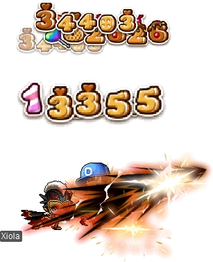 MapleStory March 11 Sweets Damage Skin In Action