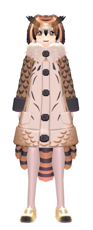 KEMONO FRIENDS X Mabinogi Eurasian Eagle Owl Coat Male