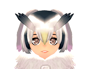 KEMONO FRIENDS X Mabinogi Northern White-Faced Owl Wig Female