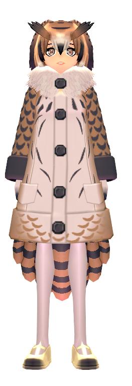 KEMONO FRIENDS X Mabinogi Eurasian Eagle Owl Coat Female