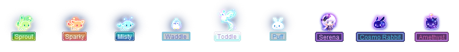 MapleStory April 1st Cash Shop Update Luna Crystal Pets Sprout Sparky Misty Waddle Toddle Puff Serena Cosmo Rabbit Amethyst