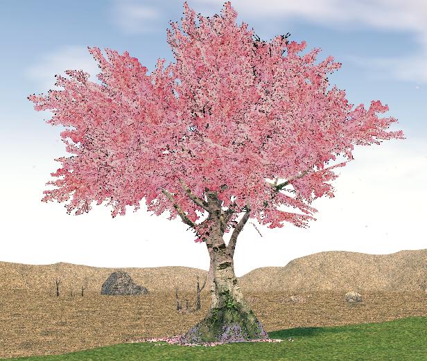 Mabinogi Homestead Abundant Cherry Blossom Tree