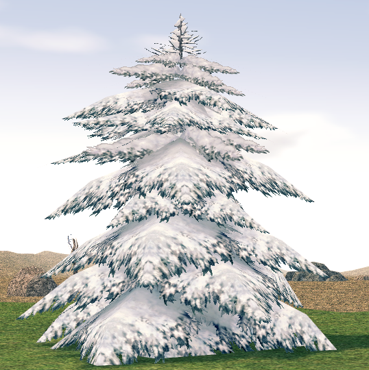 Mabinogi Homestead Harmonious Snowfield Tree 2