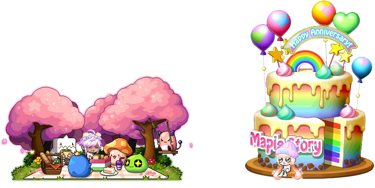 MapleStory May 6 Gachapon Chairs Spring Picnic Chair Big Cake Chair