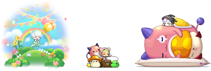 MapleStory May 6 Gachapon Chairs Dignified Marching Anthem String Phone Chair Pink Bean Sleepover