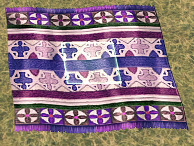 Mabinogi Homestead Elegant Lotus Carpet (Small)