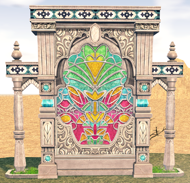 Mabinogi Homestead Elegant Lotus Decorative Wall
