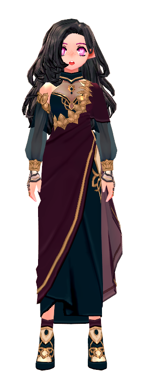 Mabinogi Elegant Lotus Shawl Dress (F)
