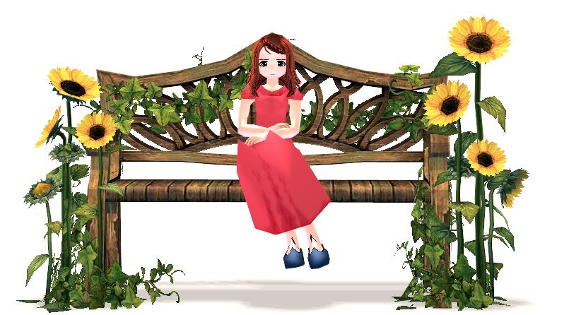 Mabinogi Sunflower Bench