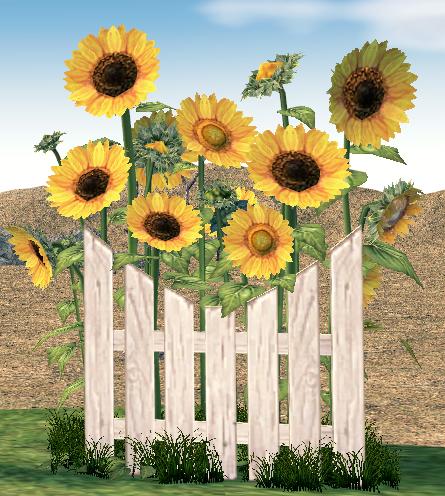 Mabinogi Homestead Sunflower Fence