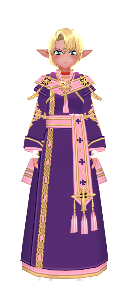 Mabinogi Pink- and Purple-Dyed Eluned Sacred Light Coat