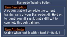 Mabinogi Stampede Training Potion
