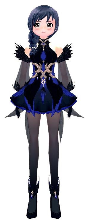 Mabinogi Crow Feather Dress (F)