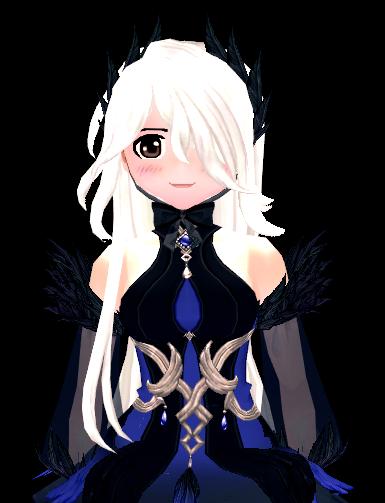 Mabinogi Crow Feather Wig and Headband (F)