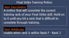 Mabinogi Final Strike Training Potion
