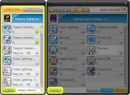 MapleStory Hyper Skills