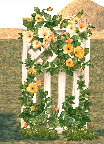 Mabinogi Homestead Secret Garden Ornamented Fence