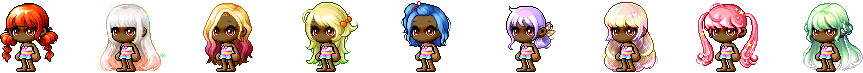 MapleStory July 1 Cash Shop Update Female All-Star Hairstyles