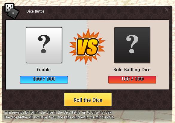 Mabinogi Dice Battle