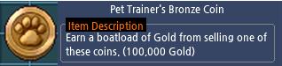 Mabinogi Pet Trainer's Bronze Coin