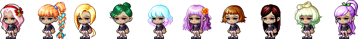 MapleStory July 22 Female Choice Hair