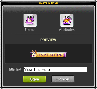 MapleStory July 22 Cash Shop Update Custom Title In Use