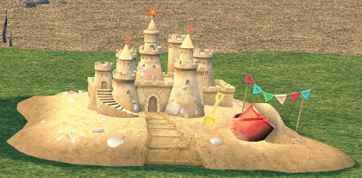Mabinogi Homestead Fancy Sand Castle