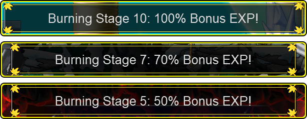 MapleStory Burning Stages