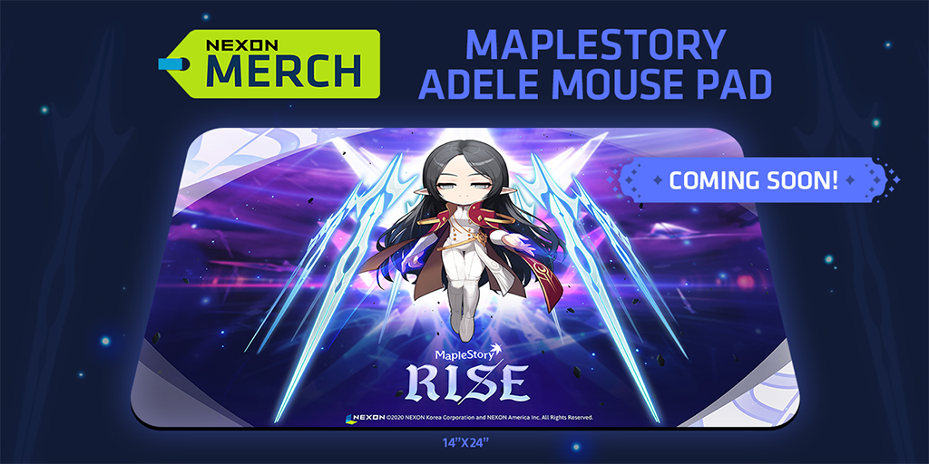 MapleStory Merch Store Adele Mousepad Coming Soon