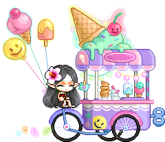 MapleStory August 5 Gachapon Mounts Gelato Cart Mount
