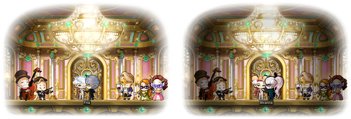 MapleStory August 5 Gachapon Chairs Adele, Jerome, and the Masquerade Adele, Veronica, and the Masquerade