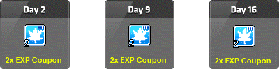 MapleStory Level Up 2x EXP Coupons Daily Gift
