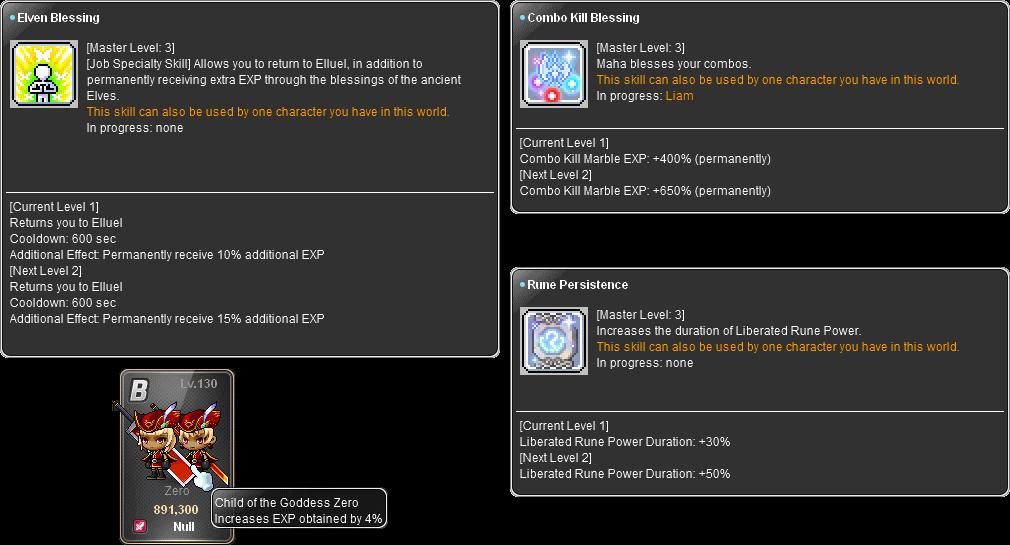 MapleStory Link Skills and Zero Legion