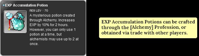 MapleStory EXP Accumulation Potion