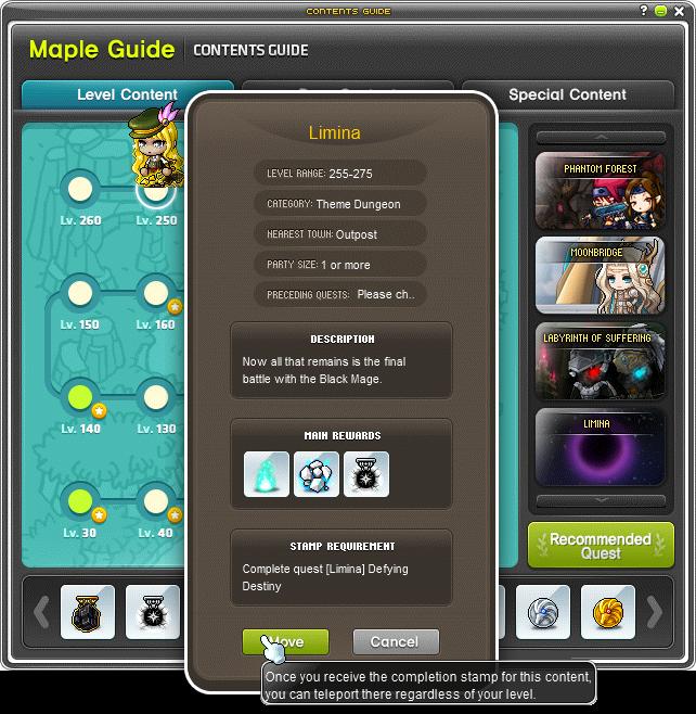 MapleStory Maple Guide Travel