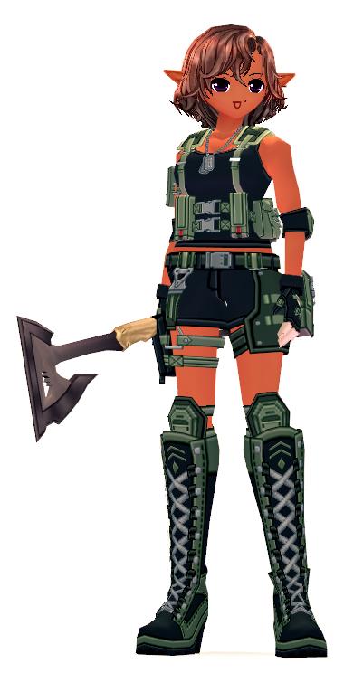 Mabinogi Soldier's Field Axe Appearance Scroll
