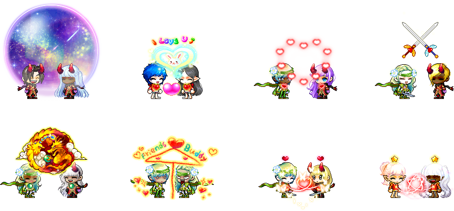 MapleStory August 19 Cash Shop Update Friendship and Couple Items