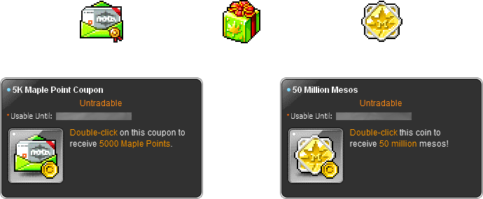MapleStory August 26 Cash Shop Update 5K Maple Point Package