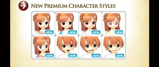 New Premium Character Styles