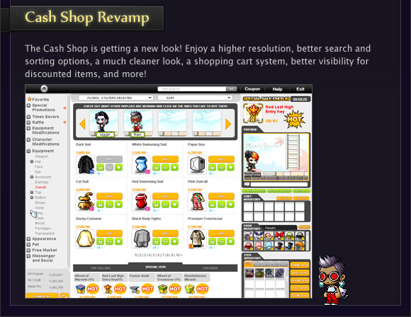 Cash Shop Revamp