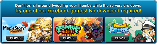 Don't just sit around twiddling your thumbs while the servers are down.Try one of our Facebook games! No download required!