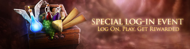 Log-in event