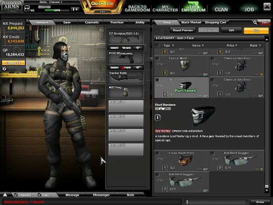The Combat Arms User Interface